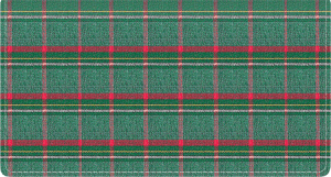Enlarged view of pay it with plaid fabric checkbook cover