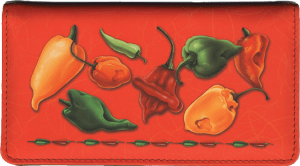Enlarged view of salsa leather checkbook cover