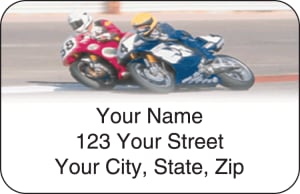 Street Bike Address Labels – click to view product detail page