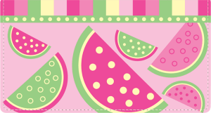 Enlarged view of summer sweets fabric checkbook cover