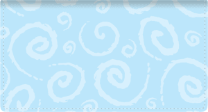 Enlarged view of swirls fabric checkbook cover