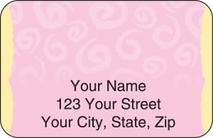 Swirls Address Labels – click to view product detail page