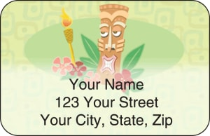 Tiki Address Labels – click to view product detail page