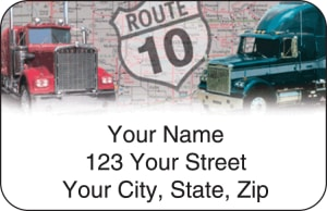 Truckin' Address Labels – click to view product detail page