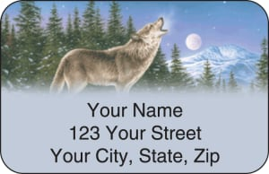 Wolves Address Labels – click to view product detail page