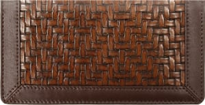 Enlarged view of woven style leather cover