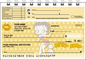 Betty Boop Kisses Top Stub Checks – click to view product detail page
