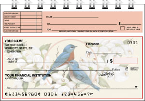 Birds & Blossoms Top Stub Checks – click to view product detail page
