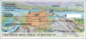 Enlarged view of fishing checks