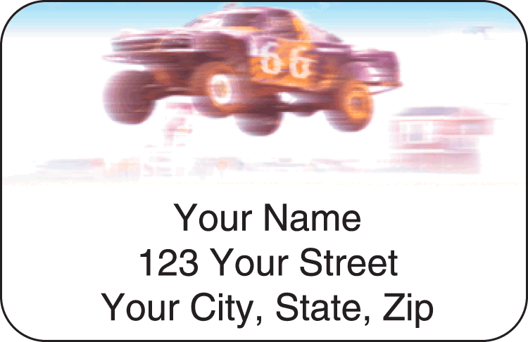 4x4 wheeler address labels - click to preview