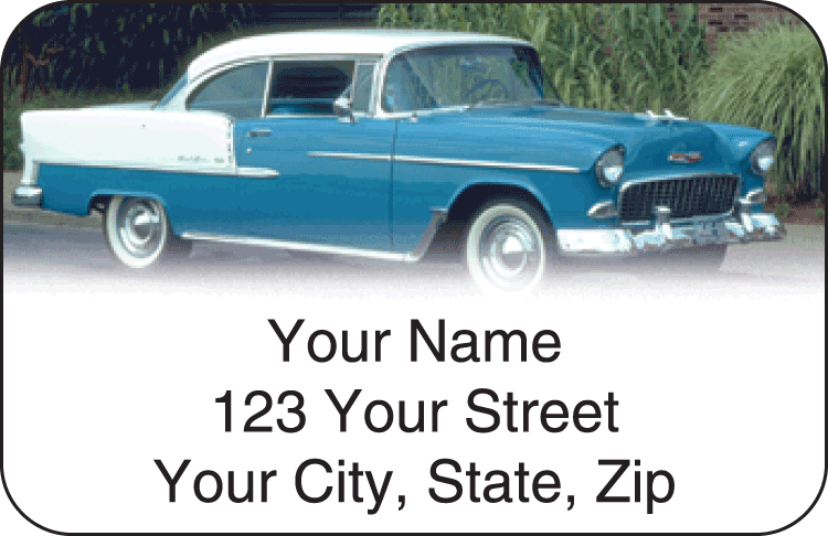 50s Chevy Address Labels - click to view larger image