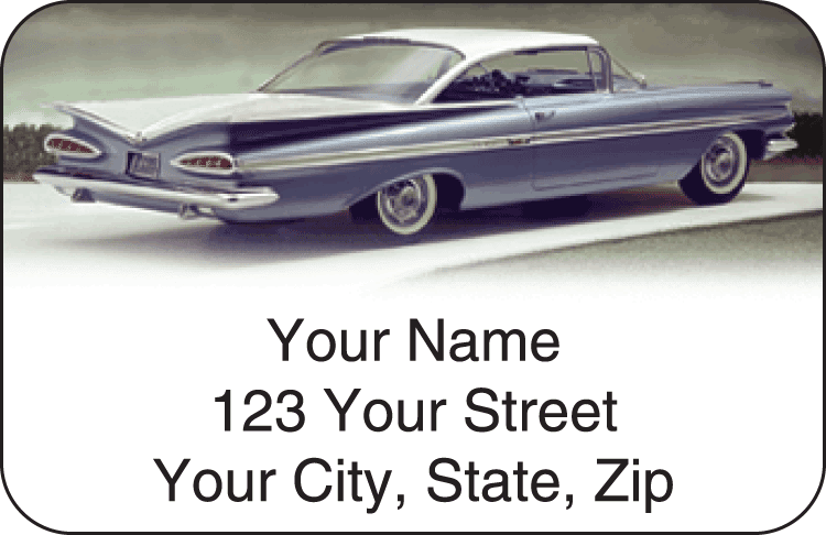 50s chevy address labels - click to preview