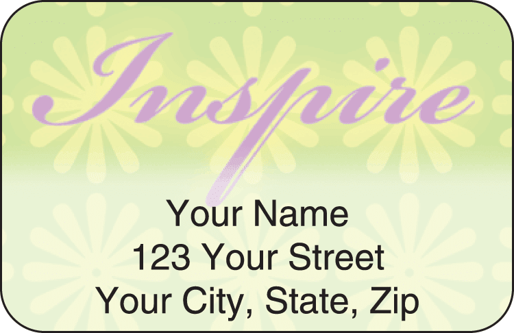 affirmations address labels - click to preview