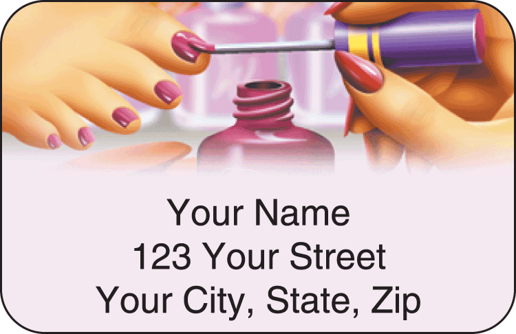 all polished address labels - click to preview