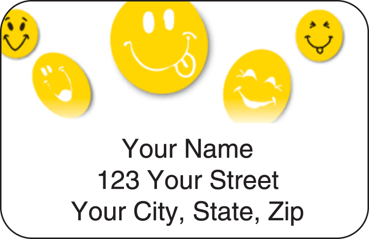 All Smiles Address Labels - click to view larger image