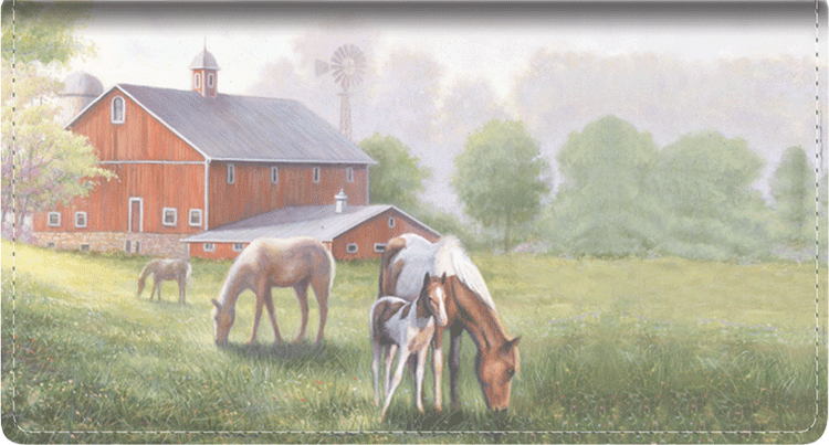 America Leather Checkbook Cover - click to view larger image