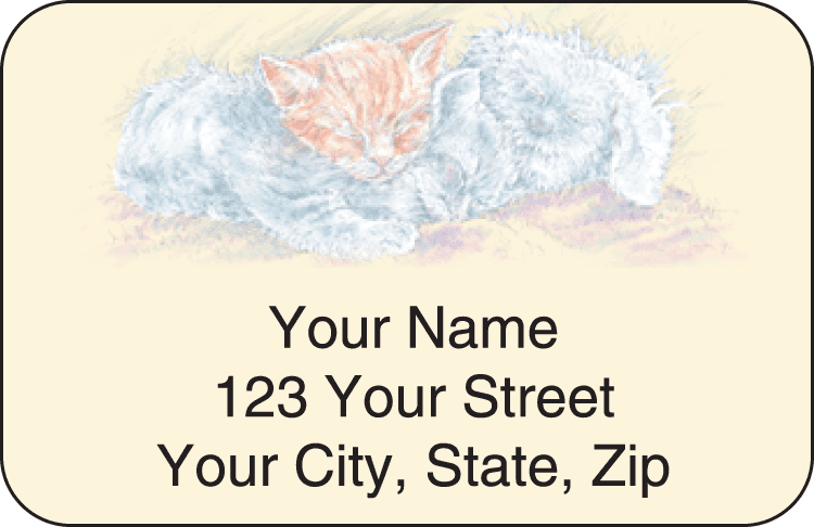 Animal Friends Address Labels