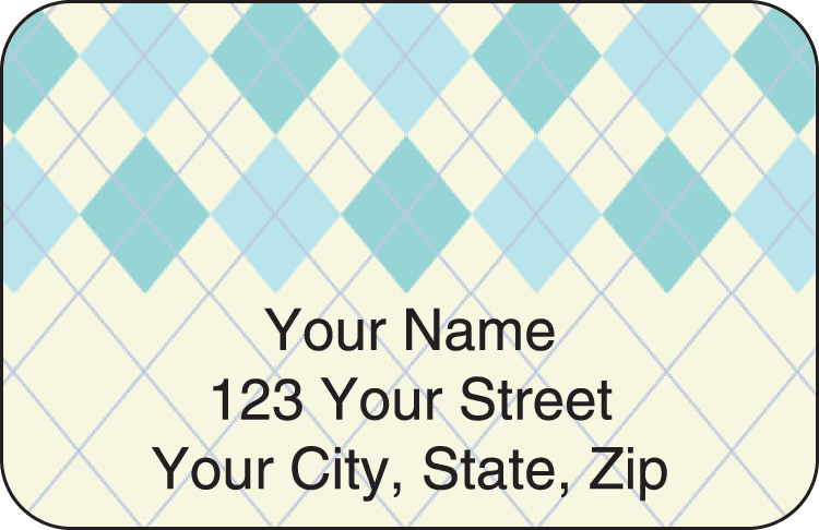 Argyle Address Labels - click to view larger image