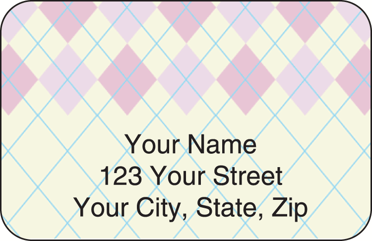argyle address labels - click to preview