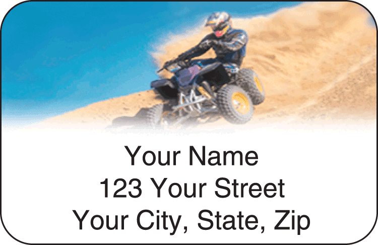 ATV Dirt Wheels Address Labels