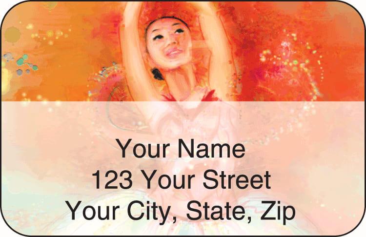 Ballerinas Address Labels