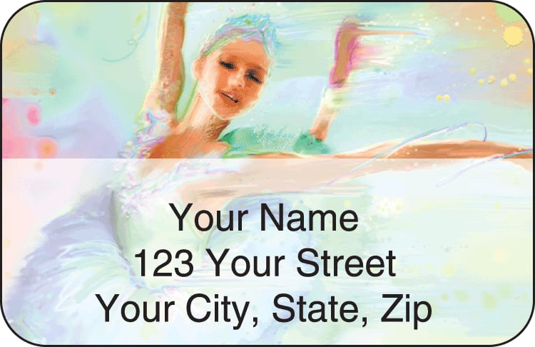 Ballerinas Address Labels - click to preview