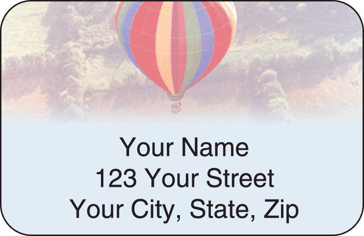 Ballooning Address Labels - click to view larger image