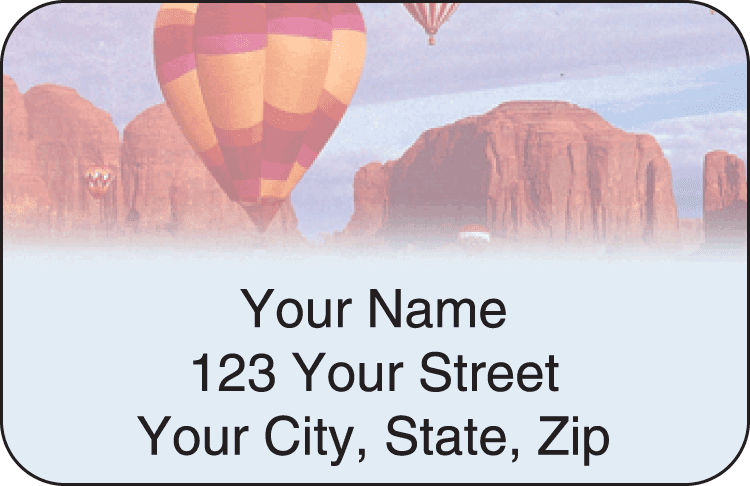 Ballooning Address Labels - click to preview