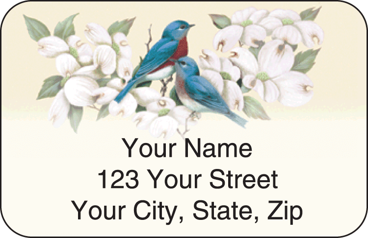 Birds & Blossoms Address Labels