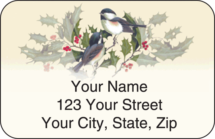Birds & Blossoms Address Labels - click to preview