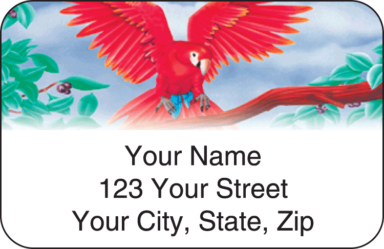 Birds of Paradise Address Labels - click to view larger image