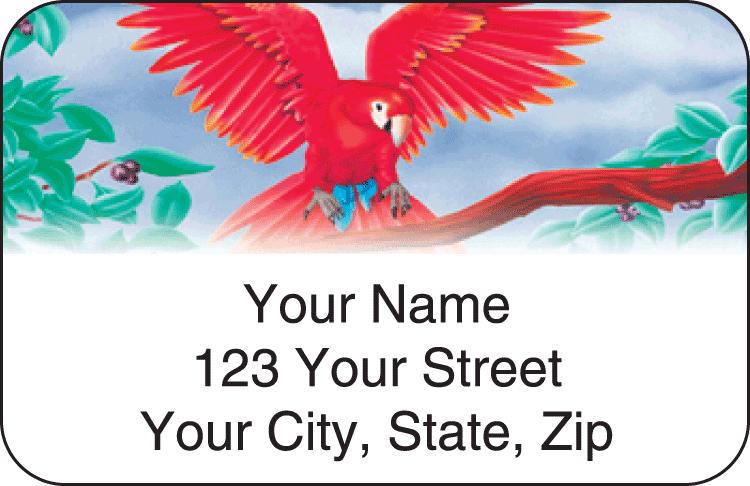 Birds of Paradise Address Labels