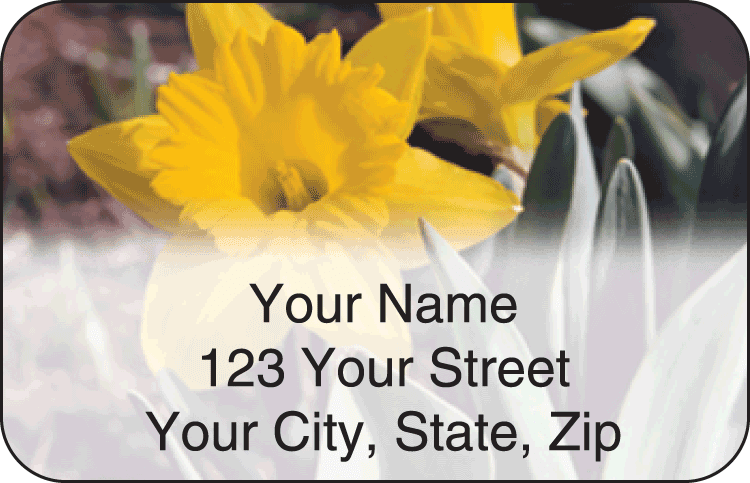 Blooms Address Labels - click to view larger image