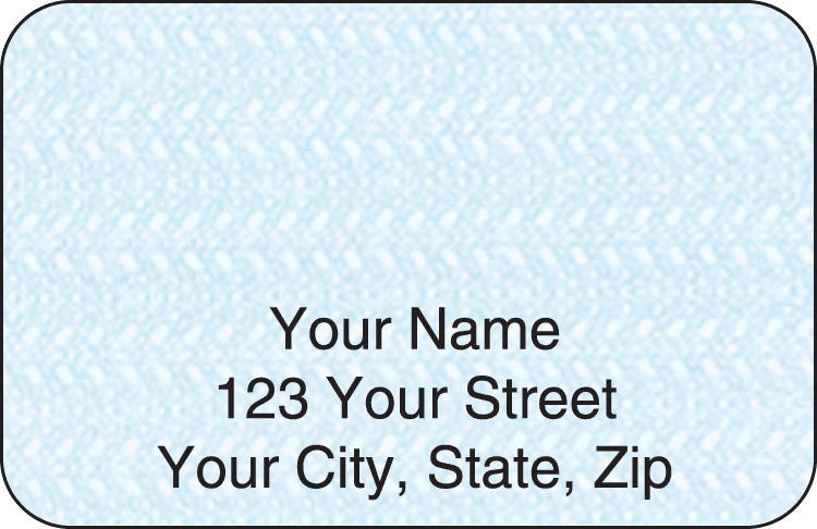 Blue Safety Address Labels - click to view larger image