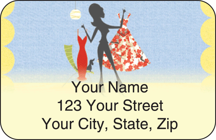 boutique address labels - click to preview