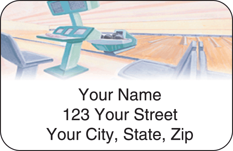 Bowling Address Labels - click to preview