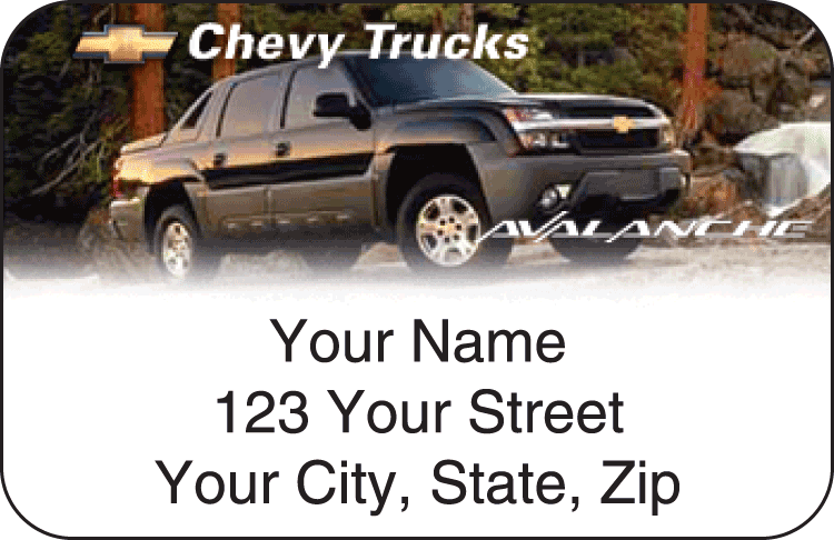 Chevy Trucks Address Labels