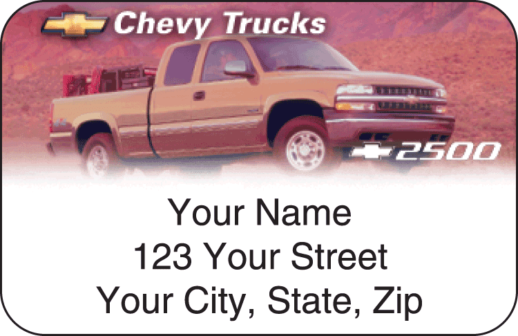 Chevy Trucks Address Labels - click to preview