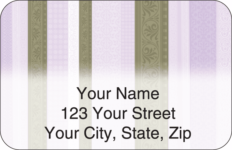 Chocolate Decor Address Labels - click to view larger image