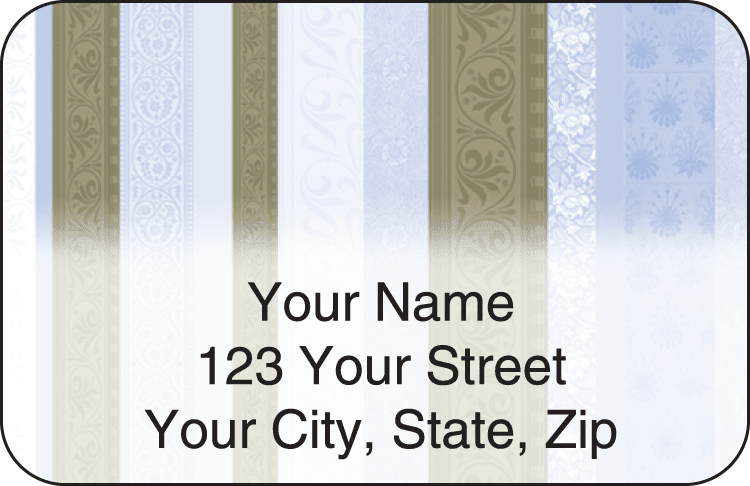 chocolate decor address labels - click to preview