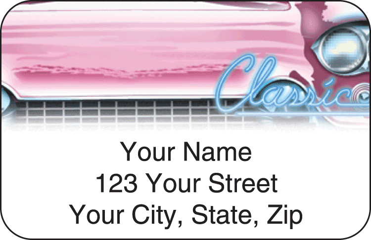 Classic Road Trip Address Labels - click to view larger image