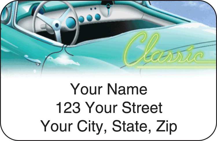 classic road trip address labels - click to preview