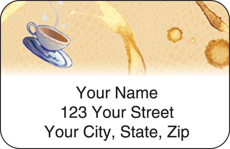 Coffee Break Address Labels - click to view larger image