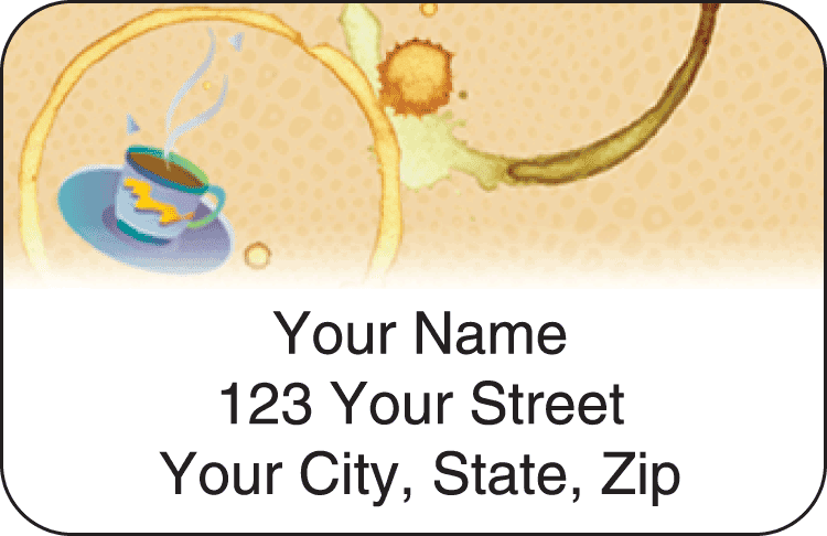 coffee break address labels - click to preview
