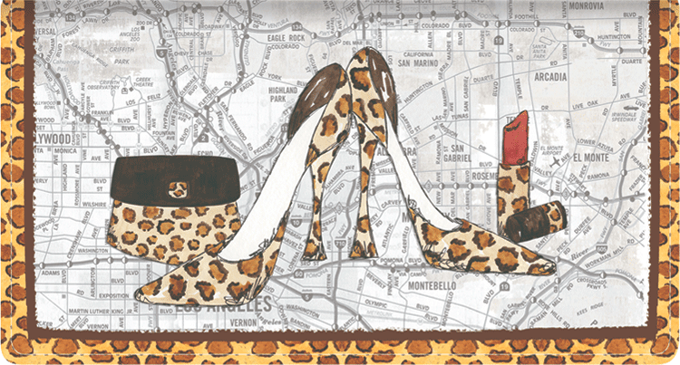 Concrete Jungle Leather Checkbook Cover - click to view larger image