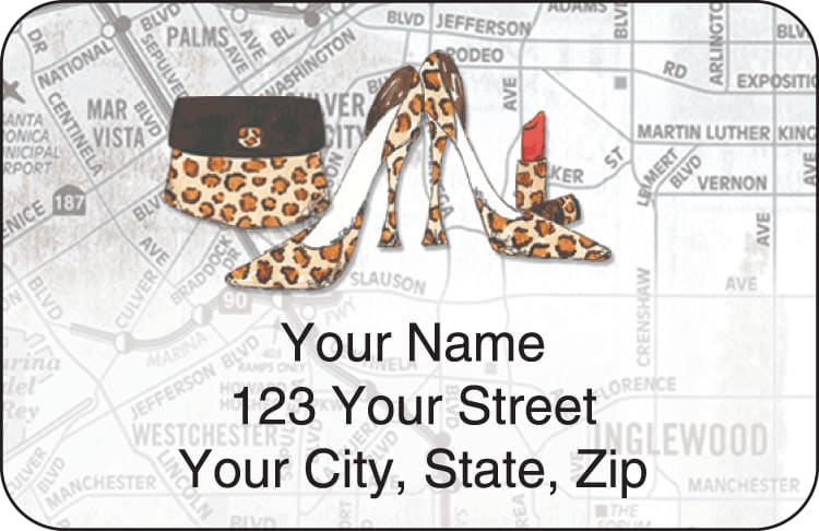 concrete jungle address labels - click to preview