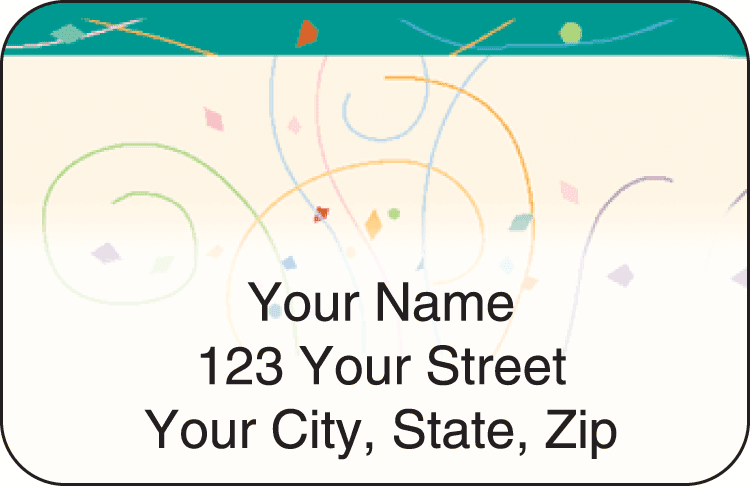 Confetti Address Labels - click to preview