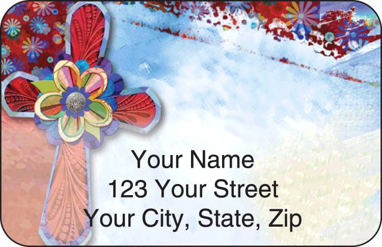 Contemporary Crosses Address Labels
