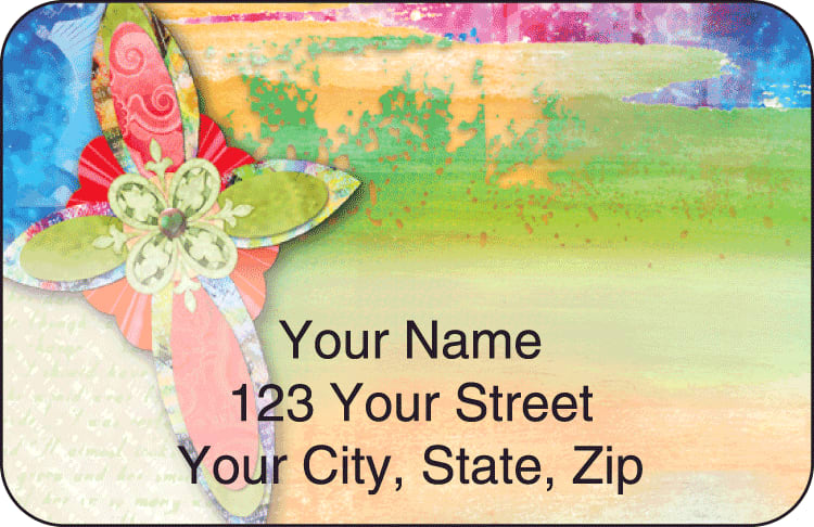 contemporary crosses address labels - click to preview