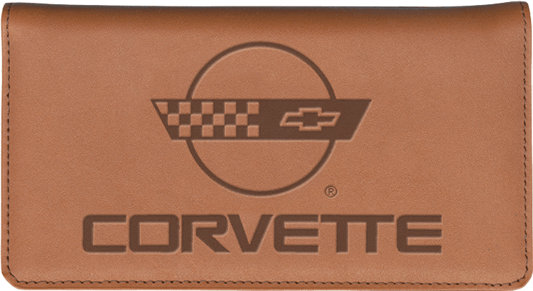 Corvette History Leather Checkbook Cover - click to view larger image
